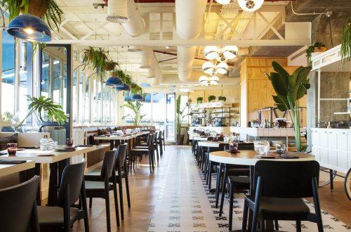 Only You Hotel Atocha · Restaurante en la última planta.